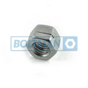 Nakrętki sześciokątne samozabezpieczajace, całe ze stali, typ H100-ESN