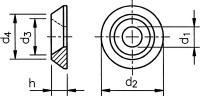 Podkładki pod śruby z łbem stożkowym o kącie stożka 90º