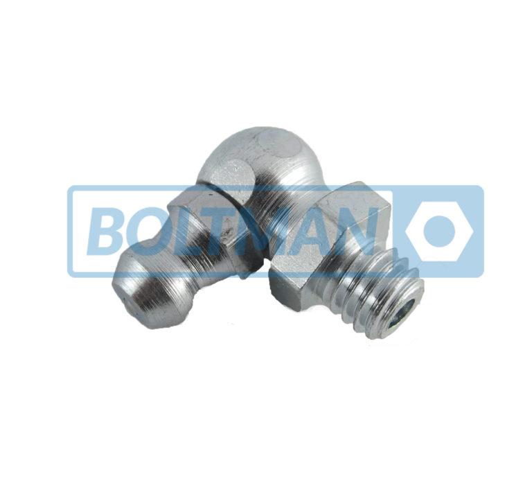 Smarowniczki kulkowe ciśnieniowe z główką stożkową-kątowe, typ A/B/C